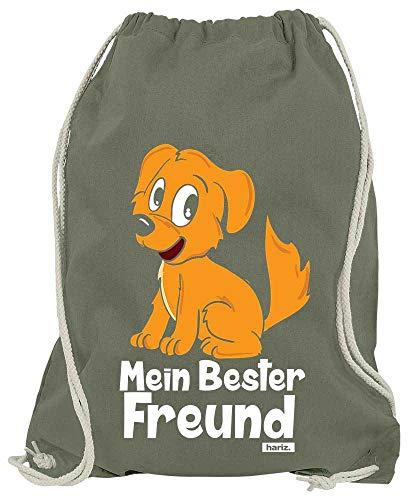HARIZ Turnbeutel Mein Bester Freund Hund Tiere Kindergarten Plus Geschenkkarten Olive Grün One Size (Olive Kostüm Für Hunde)