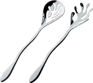 Alessi ESI16SET - Mediterraneo Posate per insalata in acciaio inossidabile 18/10 lucido.