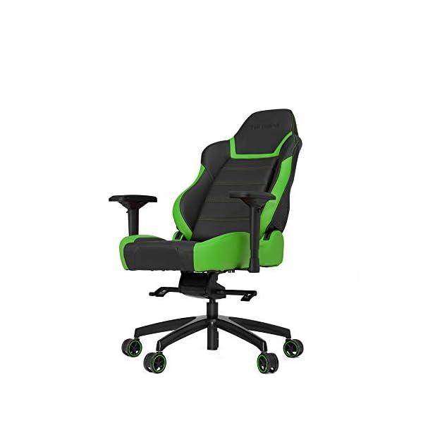 VERTAGEAR PL6000 – Silla (Asiento Duro, Respaldo Duro, Negro, Verde, Negro, Verde, Negro, Espuma, PVC)