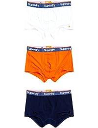 Superdry Men's Boxers RICHEST NAVY/HAVANA ORANGE/OPTIC
