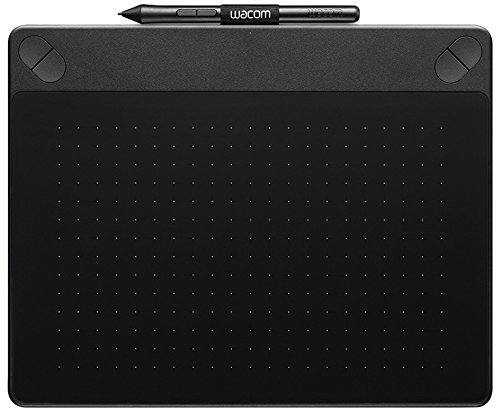 Wacom Intuos Art Medium Black Grafik-Tablett für digitales Malen / Stift-Tablett mit druckempfindlichem Stift und Multitouch-Oberfläche für natürliches Schreibgefühl / Kompatibel mit Mac & Windows