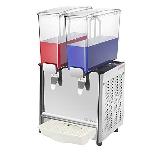 PrimeMatik - Saftdispenser Kommerzielle Getränke Spender mit Spigot Kalt Drink 9L x 2 Tanks