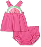 United Colors of Benetton Baby Girls 0-24m Tank-Top+Short Clothing Set, Pink, 6-9 Months (Manufacturer Size:68)