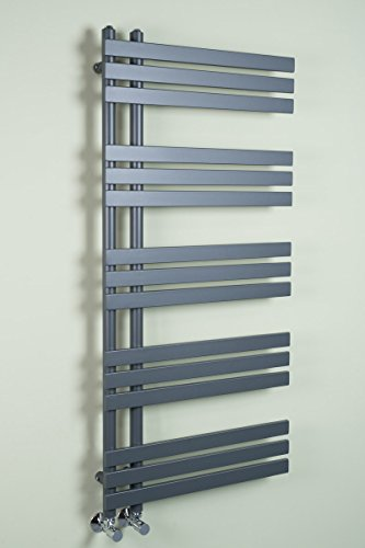 Designer Handtuchheizkörper Badheizkörper 1272 x 600 mm grau