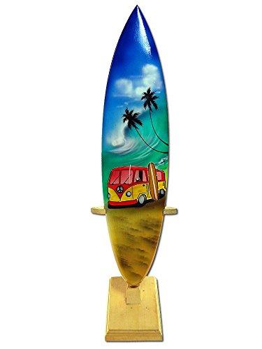 Seestern Sportswear Deko Holz Surfboard 30 cm lang Airbrush Design Surfing Surfen Wellenreiten Surf /1750 (Airbrush-board)