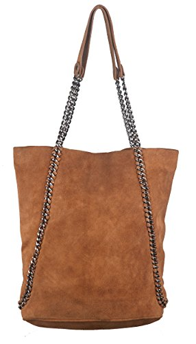 Neon By Paint PT2152TO016BRW trendy and stylish tote bag(Tan)