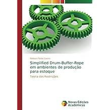 Simplified Drum-Buffer-Rope em ambientes de produção para estoque: Teoria das Restrições