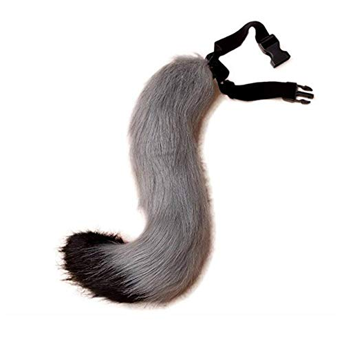 Kostüm Schwänze Furry - Symina Plüsch Kunstpelz Tail für Halloween Party Kostüm Adult Teen Cosplay verkleiden künstliche Tier Tails Pelzimitat