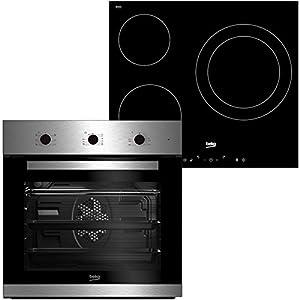 horno dimensiones horno: alto (cm):60 ancho (cm): 56 profundidad (cm): 55 características horno: cocción: multifunción funciones (nº): 6 volúmen útil del horno (l): 65 control: mecánico color: inox grill: eléctrico ventilador: si booster: si luz inte...
