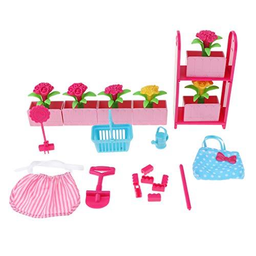 Garten Esszimmer Möbel (P Prettyia 1/6 Puppenhaus Wohnzimmer / Garten/ Reise / Esszimmer Möbel Set für Kinder Spielhaus Spielzeug - Gartenmöbel)