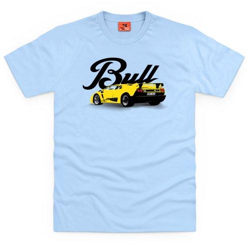 PistonHeads Bull T-shirt, Uomo Celeste