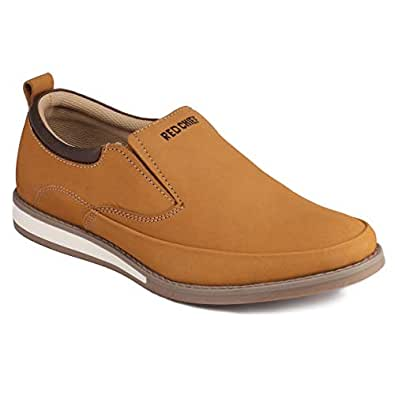 Red Chief Men's Rust Leather Boat Shoes - 10 UK/India (44 EU)(RC3486 022)