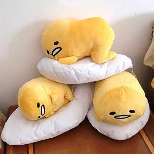 Lyon-set Bett (Flower Japanische Faule Ei Gudetama Puppe halten Kissen große Eigelb Bruder Kissen Cartoon Plüsch Kissen ist Lyon)