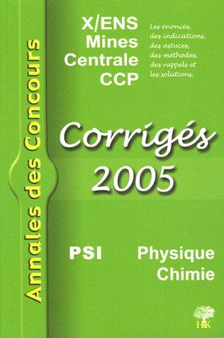 Physique et Chimie PSI