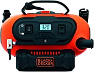 BLACK+DECKER BDCINF18N-QS 160PSI AC/DC Multipurpose Cordless Tyre Inflator with Digital Guage, Autocut Off Sys