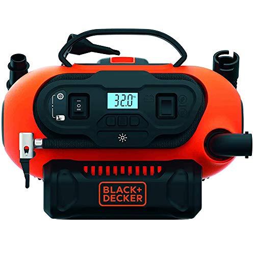 Oferta de Black+Decker BDCINF18N-QS - Compresor de aire 160 PSI, corriente CA/CC 230V/12V y corriente CC para baterías 18 V