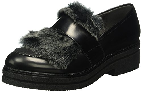 Tamaris Damen 24700 Slipper, Schwarz (Black/Platinum 060), 39 EU