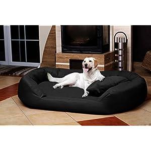 TIERLANDO® SV5-03 Orthopädisches Hundebett Sammy VISCO aus fest gewebtem Polyester Gr. XXL 140 cm Schwarz