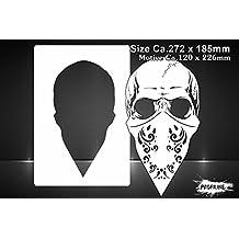 Aerógrafo Gangster Plantilla Calavera – Skull Gangsta Stencil