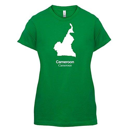 Cameroon / Kamerun Silhouette - Damen T-Shirt - 14 Farben Grün