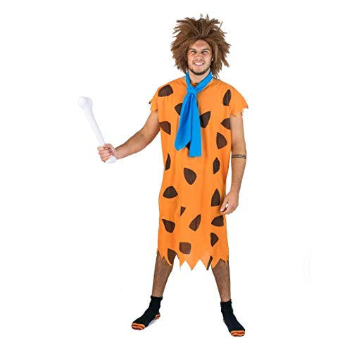 Flinstone Kostüm - Bodysocks Fancy Dress 5060298040213 Kostüm, Unisex Adult, Mehrfarbig, Large