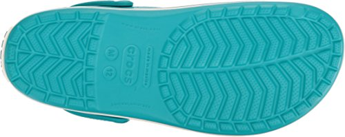 crocs Unisex-Erwachsene Crocband Clogs Grün (Turquoise/Oyster)