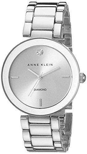 Anne Klein AK/1363SVSV - Orologio da polso da donna, cinturino in acciaio inox colore argento