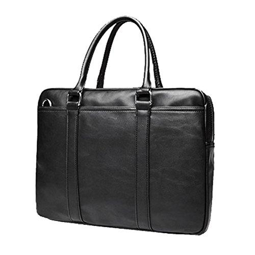 Männer Tasche 15,6 Zoll Computer Laptop Tasche männlichen Aktenkoffer PU Leder Business Tasche Schulter Männer Kuriertasche - Versace Leder Schulter Tasche