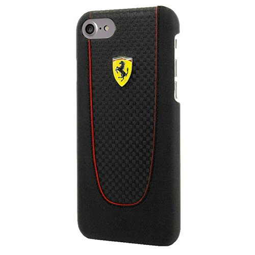 Price comparison product image Ferrari Pit Stop Trim Case for iPhone 7 - Carbon Black