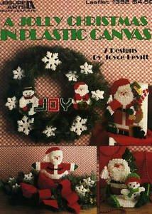 Eine Fröhliche Weihnachten In Kunststoff Kreuzstich Chart-Muster, 7-Projekte (Leaflet Kreuzstich)