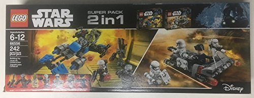 LEGO 2 in 1 Star Wars 66556 Building Set (In 2 Star-wars-lego-sets Einem)