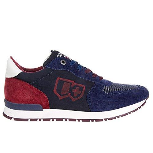 D'Acquasparta Sneaker Uomo Fatta a Mano in Italia Botticelli Suede Blue_42