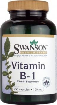 Swanson Vitamin B1 100mg (250 Capsules) by Swanson Health Products