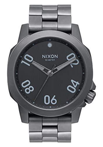 Nixon Unisex Erwachsene Digital Uhr mit Edelstahl Armband A468-632-00