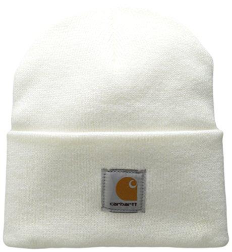Carhartt Beanie Strickmütze A18, Einheitsgröße (one size), weiß (Beanie Knit Rib)