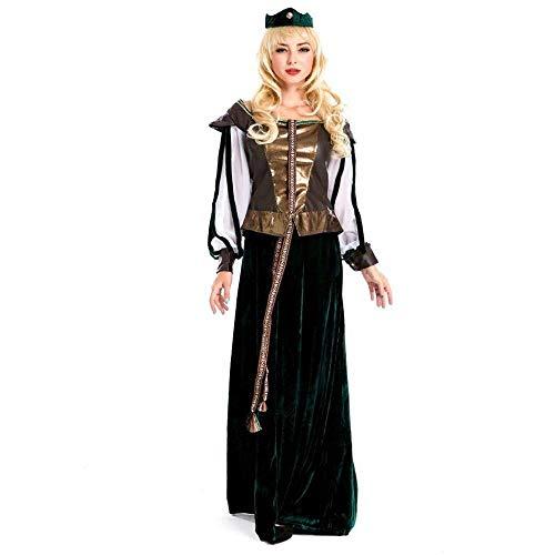 Fashion-Cos1 Halloween Kleidung Frauen Kleid mittelalterlichen Renaissance knöchellangen Kleid Gericht Kostüm schwarz Partei Elegante Vintage Kleid