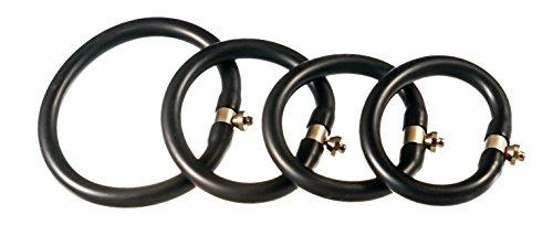 Gipfelstürmer 4 Stück flexible Ringelektroden, mit Snap Anschluss, ESTIM zur Erektionshilfe und Inkontinenzbehandlung (4 Stück)