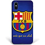For New iPhone X - Phone Back Case Hard Cover Custom Personalised Full 3D Style Christmas Gift Present Abstract Modern Design Protective Plastic UK Brand Appfix FC Barcelona Football Club