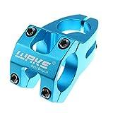 CricTeQleap Fahrradzubeh?r, 31,8 mm Aluminiumlegierung Fahrrad MTB Rennrad Kurzer Lenker Vorbau Radfahren Teile - Blau
