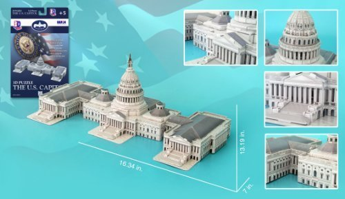 US Capitol Building 3D Puzzle, 132 Pieces by Daron (Capitol Building Us)
