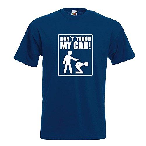 KIWISTAR - Dont touch my Car Motiv3 T-Shirt in 15 verschiedenen Farben - Herren Funshirt bedruckt Design Sprüche Spruch Motive Oberteil Baumwolle Print Größe S M L XL XXL Navy