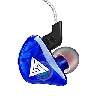 SIridescentZB Sport Headphones, In-Ear Wired Ear-Hook Headset Volume Control Microphone 3.5mm Earphones Blue