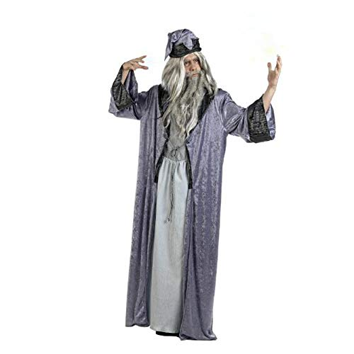 Zauberer Kostüm Merlin - Mascarada  MA618 - Zauberer Merlin Kostüm Herren 2-Teilig, Gewand und Zaubererhut - L