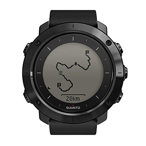 Suunto Traverse Sapphire, Orologio GPS per l'Outdoor con vetro in Cristallo Zaffiro, Nero