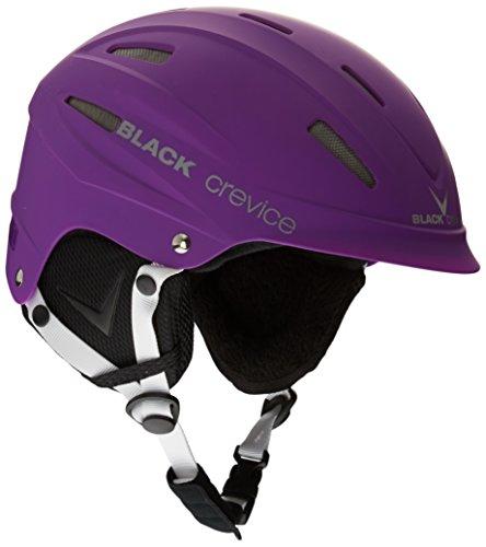 Black crevice casco da sci, viola (violett), m