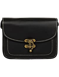 PU Leather Stylish Sling Bag / Purse For Women & Girls Color - Black (1228)