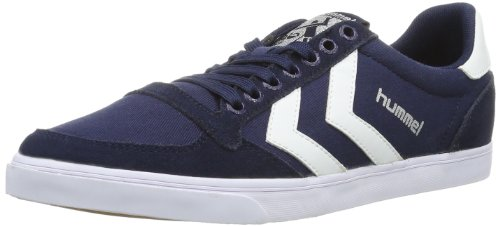 Hummel Fashion - Chaussures Hummel 'Slimmer Stadil Low', de sport - HUMMEL SLIMMER STADI, Baskets mode mixte adulte Bleu (Dress Blue/White Kh)