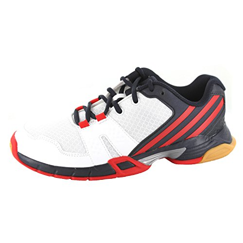 adidas Volley Team 4, Chaussures de Volleyball Homme Blanc Cassé - Blanco (Ftwbla / Hiemet / Rojint)