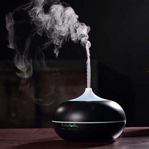 300ml Diffuseur d'Huiles Essentielles / Humidificateur Ultrasonique / Diffuseur Aroma de Parfum /diffuser aroma (Fonction d'Extinction Automatique, 9H d'Autonomie) (avec une prise électrique européenne)