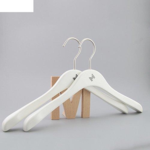 importare carico legno storage rack/Bianco vernice donna gancio di (Raso Bianco Vernice)